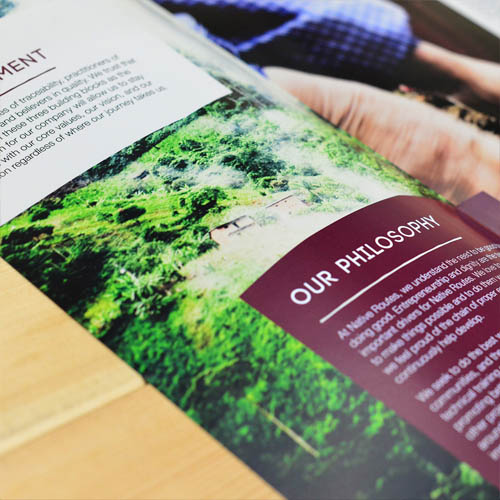 Native Routes' brochures