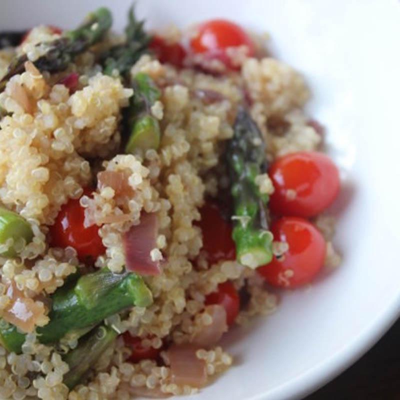 Tomato + Basil Quinoa Salad